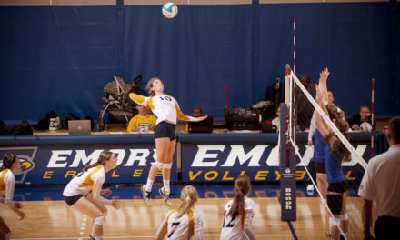 Volleyball Team Goes Undefeated in Home Tournament