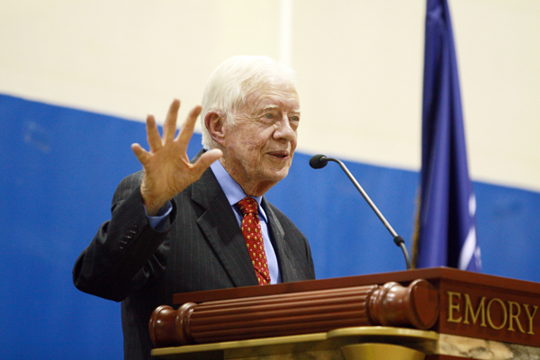 Carter Explores Health Care, Middle East Politics