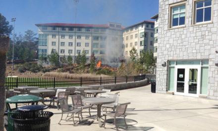 BREAKING: Fire Breaks Out on McDonough Field