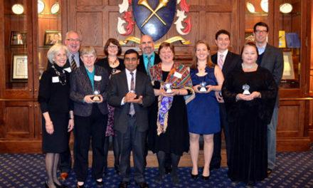 Teachers Awarded Crystal Apple