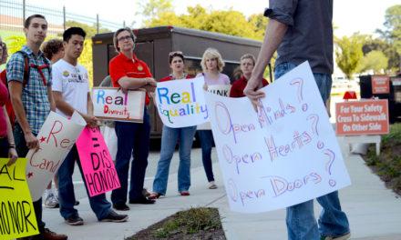 Group Holds Rally Over Candler Award Winner