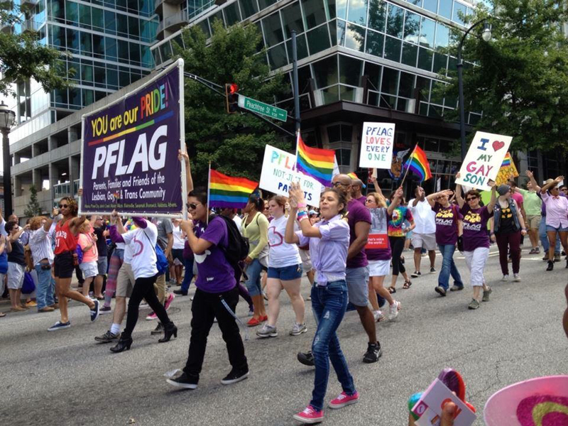 Students 'Come Out' to Pride Parade