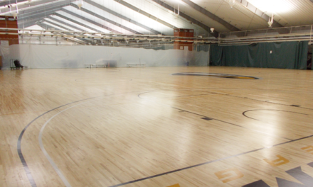 WoodPEC Fourth Floor Basketball Courts Get Makeover