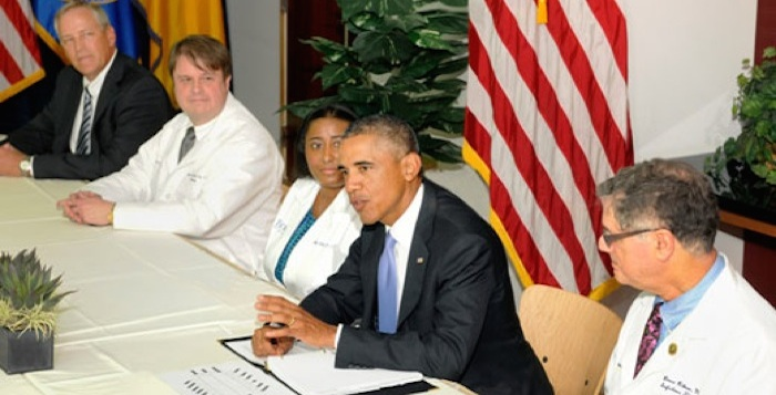 Barack Obama Meets With Emory Staff
