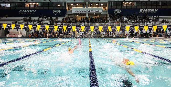 Swim Celebrates Senior Day, Falls to Georgia Tech