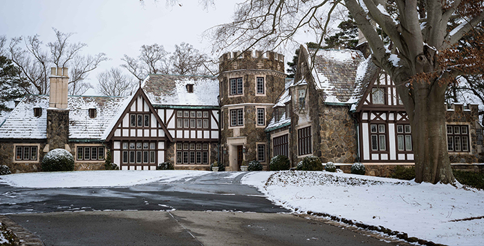 Lullwater House, where University President James W. Wagner resides. Photo by Luyao Zou.