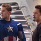 "Chris Evans (left) and Robert Downey Jr. (right) star in 2012 box-office-record-breaking smash-hit ""The Avengers."" Both actors are set to  star in further installments set in the Marvel Universe and the fan speculation on the possibilities is ablaze. 