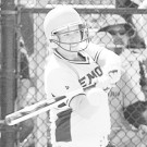 Megan Light ('14C) takes a swing for the Eagles. On Thursday, Light won the NCAA Today's Top 10 Award, in recognition of her success both on and off the field. Photo courtesy of Emory Athletics.