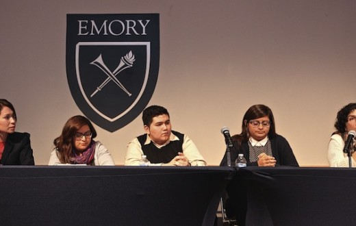 "During ""Freedom Fighters Speak,"" an event hosted by the campus group Freedom at Emory  University, six panelists held a discussion on undocumented students in Harland Cinema on Wednesday night. 