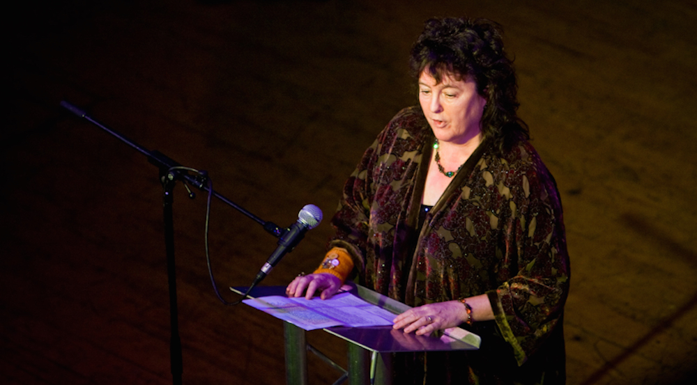 British Poet Laureate Gives Reading on Love, Feminism