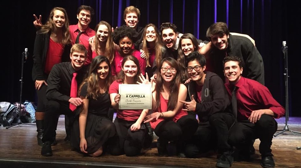 "Members of Aural Pleasure, an Emory a capella group, won the ICCA quarter finals with their performance of ""Take Me to Church"" by Hozier. 