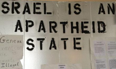 Student Israeli Apartheid Wall Torn Down, EPD Investigates