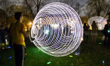 Neustetter's 'Light Experiments' Illuminates Night