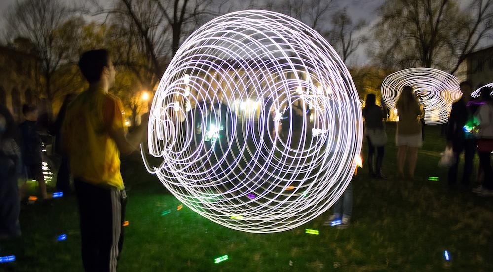 Neustetter's 'Light Experiments' Illuminates Night