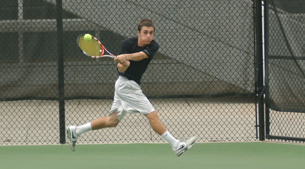 Senior Alex Ruderman prepares to hit the ball. Ruderman and the Eagles will travel to Sewanee: University of the South (Tenn.) this Wednesday. | Courtesy of Emory Athletics