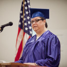 Gissendaner at her theology graduation ceremony at Arrendale State Prison | Courtesy of Ann Borden