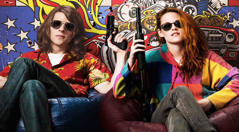 Jesse Eisenberg and Kristen Stewart in a promotional poster for American Ultra. Courtesy of Lionsgate.