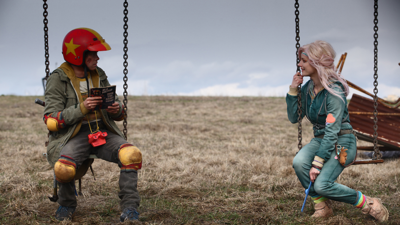 Munro Chambers (left) and  Laurence Leboeuf in 'Turbo Kid.' / Courtesy of Epic Pictures Group