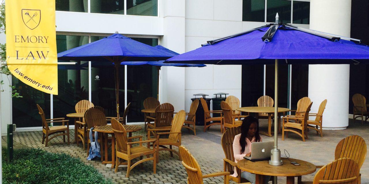 Solar Powered Umbrellas Arrive at Emory