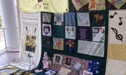 Quilt on the Quad Commemorates Victims of AIDS
