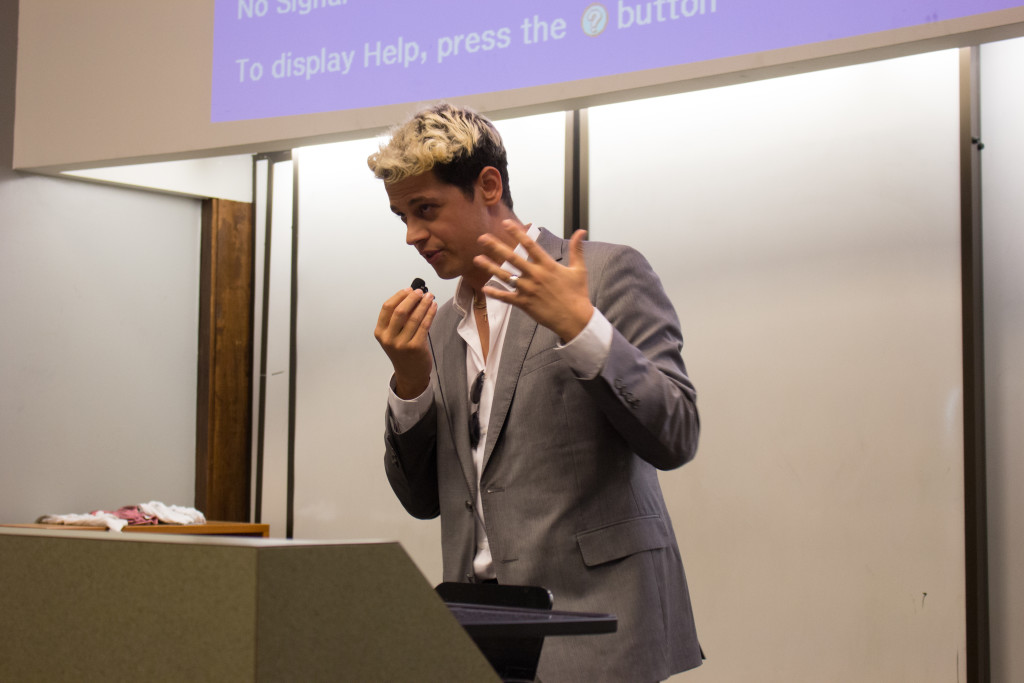 Milo Yiannopoulos answers questions from the audience. / Julia Munslow, Executive Editor