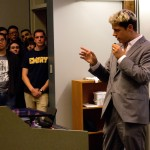 Milo Yiannopoulos speaks to a crowd at Emory. | Julia Munslow, Executive Editor