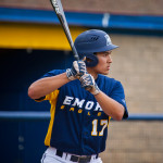 Senior outfielder Chris Slivka helped the Eagles win in the first game against Maryville College this past weekend, hitting the first two home runs of his career. | Courtesy of Emory Athletics