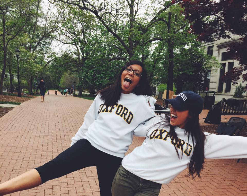 Rising Oxford College sophomores Abinta Kabir (left) and rising Camilla Gallin (right) during Oxford College's Spirit Week. / Courtesy of Camilla Gallin