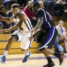 Senior guard Jonathan Terry played a key role in the Eagles win over William Peace, finishing with 18 points. Photo courtesy of Emory Athletics.