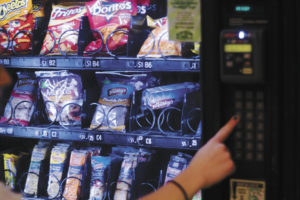 Stocked with mouthwatering snacks, the various vending machines around campus or oases for the famished. Matthew Hammond/Staff