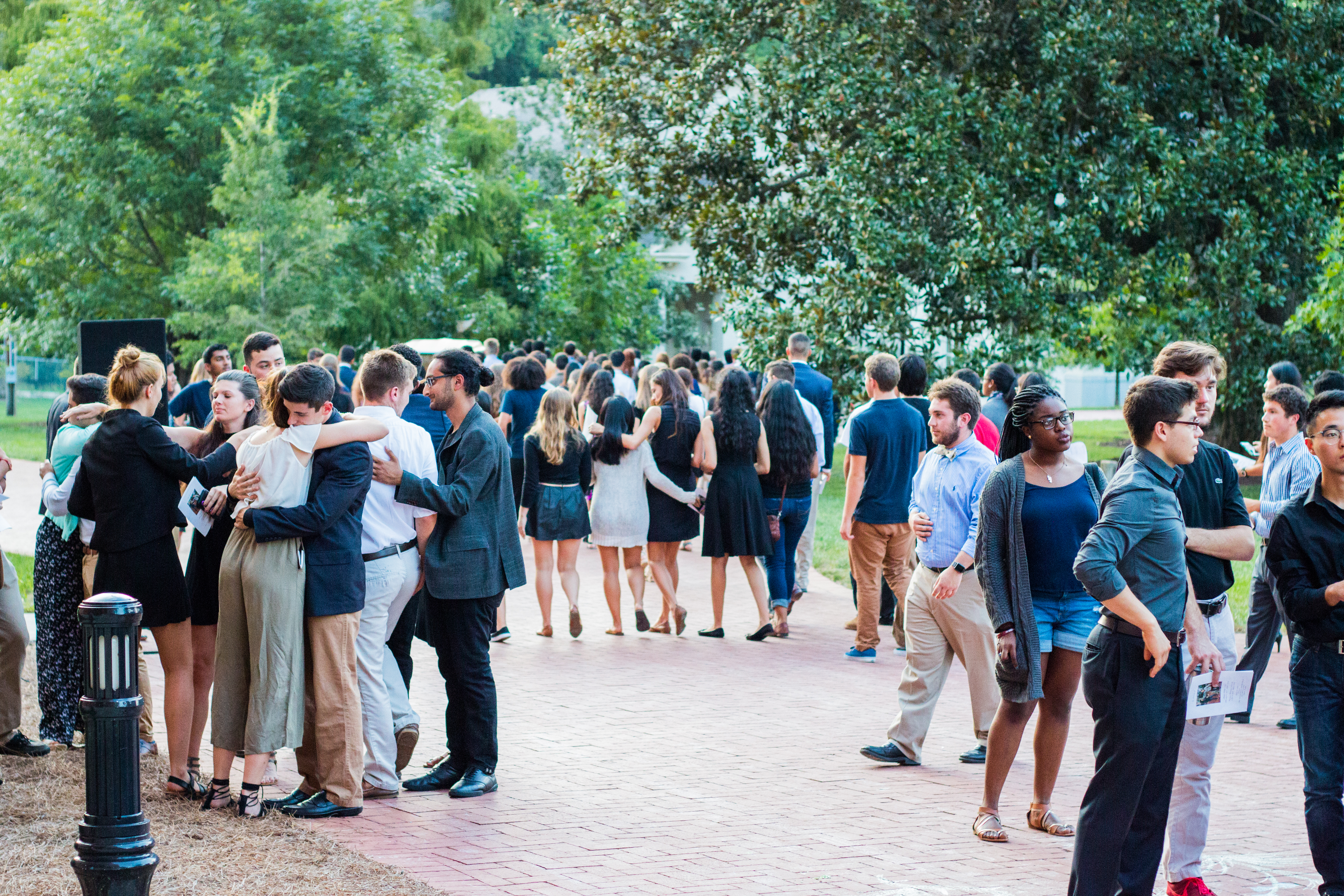 Emory community members mourn at a memorial service for Emory students Abinta Kabir and Faraaz Hossain, who were taken hostage and killed in a terrorist attack in Dhaka, Bangladesh. / Ruth Reyes, Photo Editor