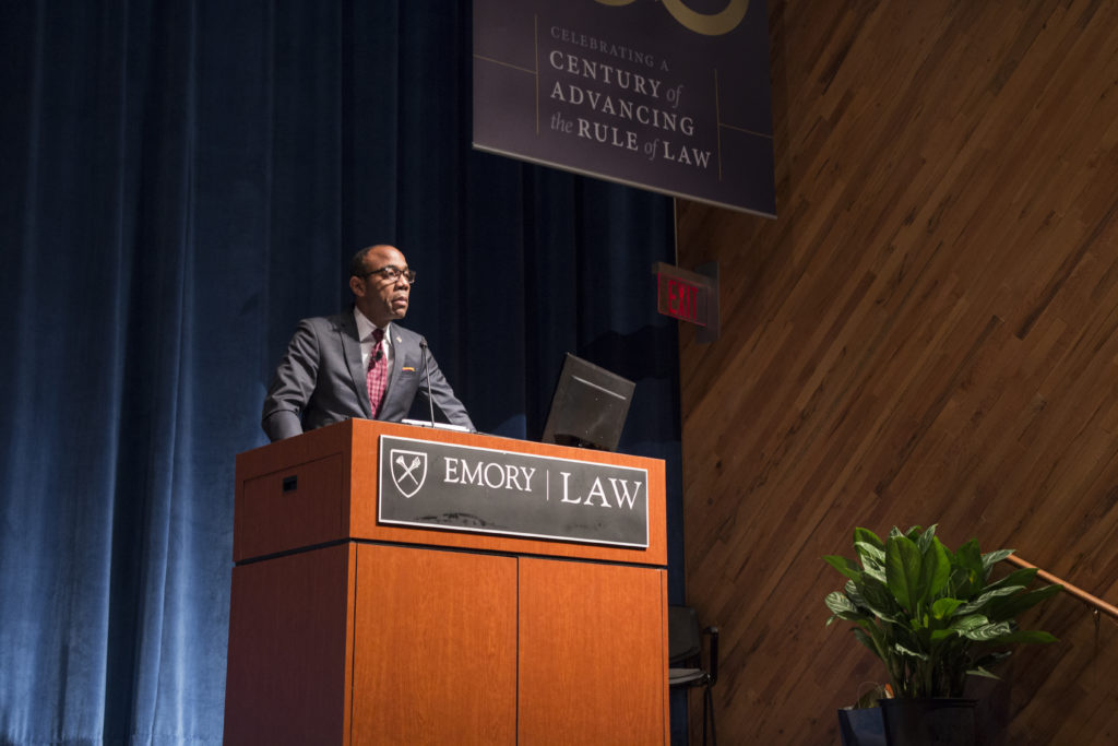 NAACP President and CEO addresses more than 200 people in Emory School of Law's Tull Auditorium Thursday, Jan. 13. / Ruth Reyes, Photo Editor