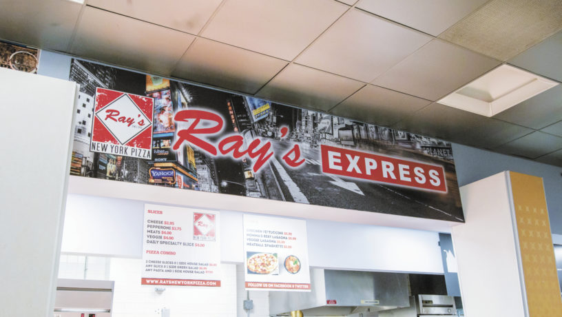 At both Emory locations, Ray's Pizza offers a myriad of pizza, pasta and salad for hungry college students. | Ruth Reyes/Photo Editor