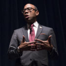NAACP President and CEO Cornell Brooks addresses more than 200 people at Emory School of Law's Tull Auditorium Thursday, Jan. 13. / Ruth Reyes, Photo Editor