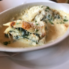 Generously topped with parmesan cheese, Marcello's lasagna exemplifies a non-tomato version of this classic dish.   Courtesy of Mitchell Friedman