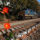 A photo College freshman Steven Chen captured of a train behind the depot in November. | Steven Chen/Contributing