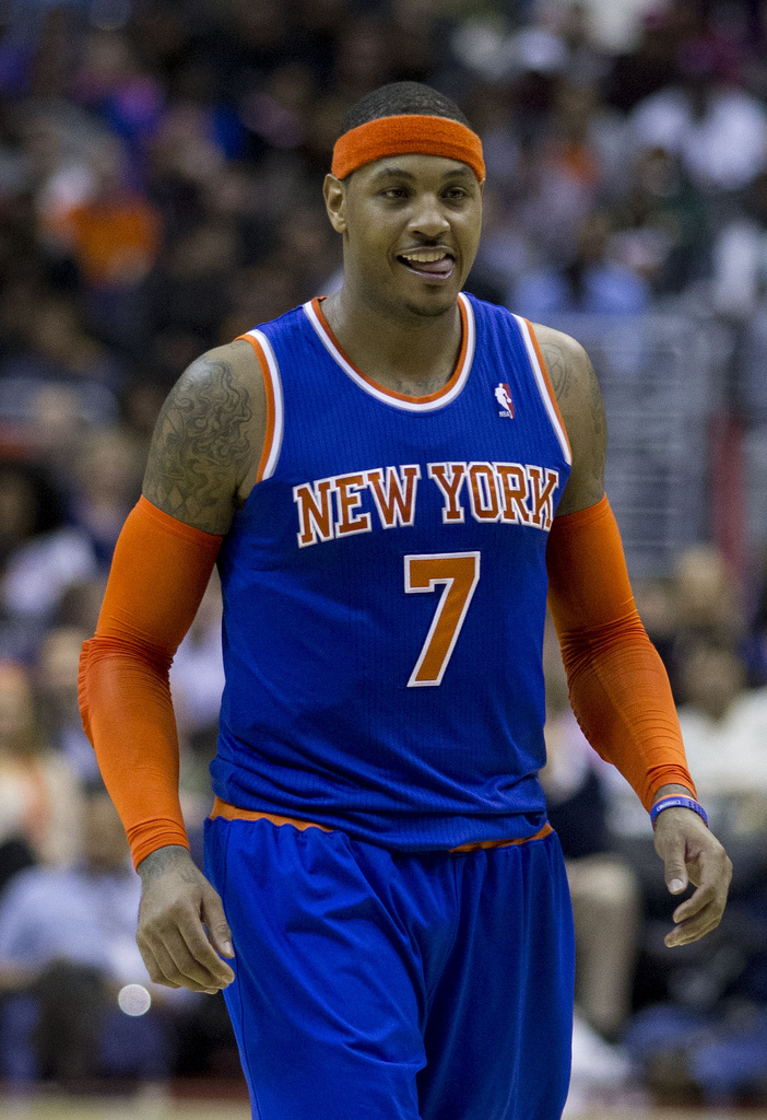Anthony gave possibly his best performance of the season Sunday. Unfortunately, even that wasn't quite enough for this Knicks team. Photo Cortesy of Flickr user Keith Allison.