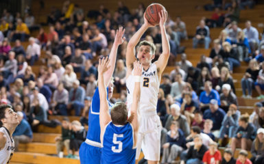 Junior forward Adam Gigax responded with 36 points at UChicago after a meager 4 points against WashU. Photo courtesy Emory Athletics.