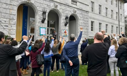 Sanctuary Coalition Stages Rally During Sterk Inauguration