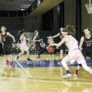Freshman forward Erin Lindahl drives in the Eagles' game against Carnegie Mellon University (Pa.) Sunday.