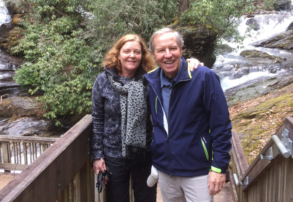 Elifson and Sterk pose for a photo on a hiking trip the couple took a few years ago. / Courtesy of Kirk Elifson