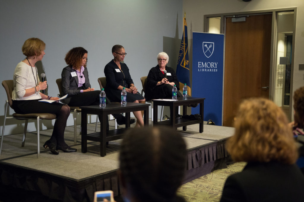 Panelists speak about gender empowerment through higher education in honor of 100 years of female students at Emory./Ruth Reyes, Photo Editor