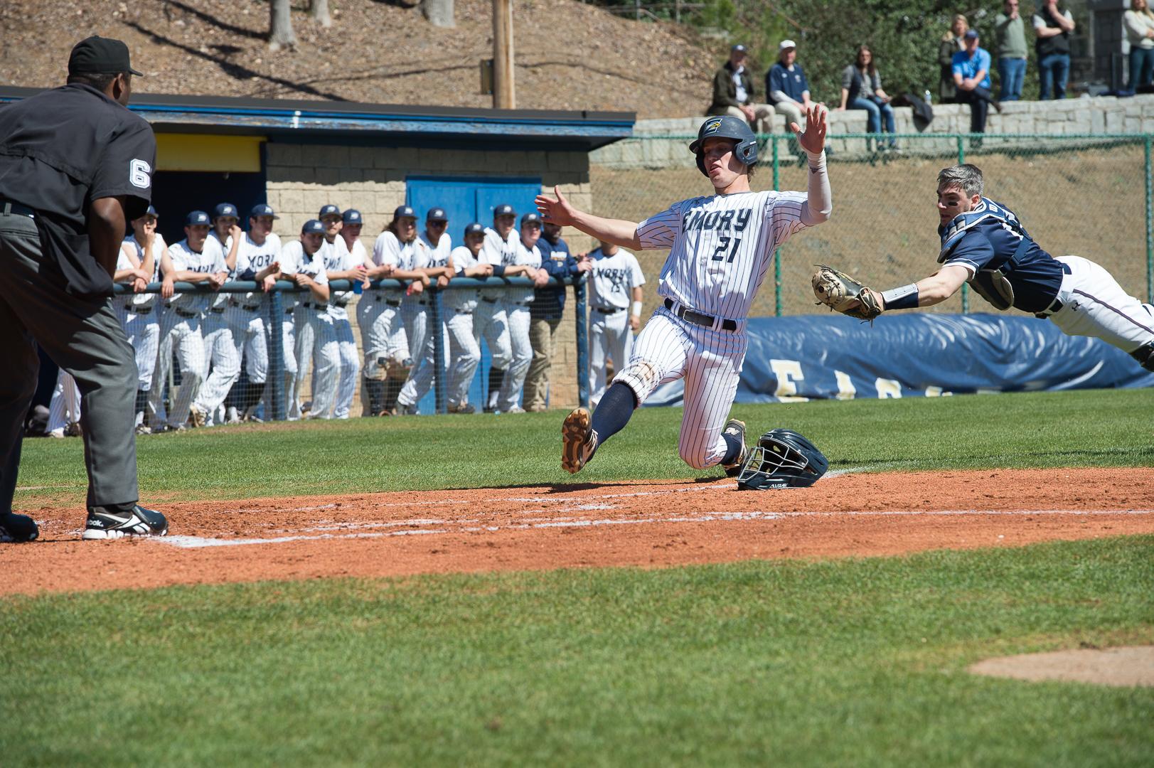 Baseball Snaps Losing Skid
