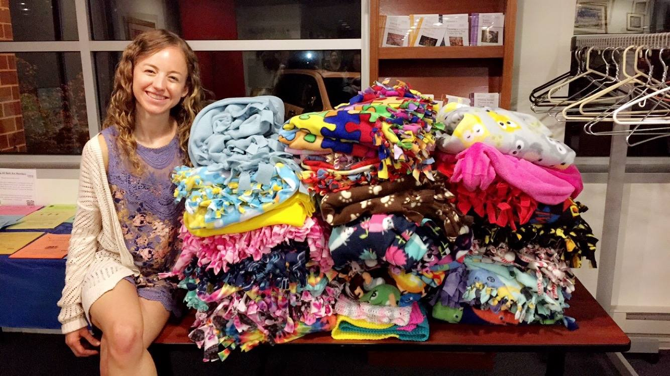 Engel Commissions 450 Blankets to Chronically Ill Kids