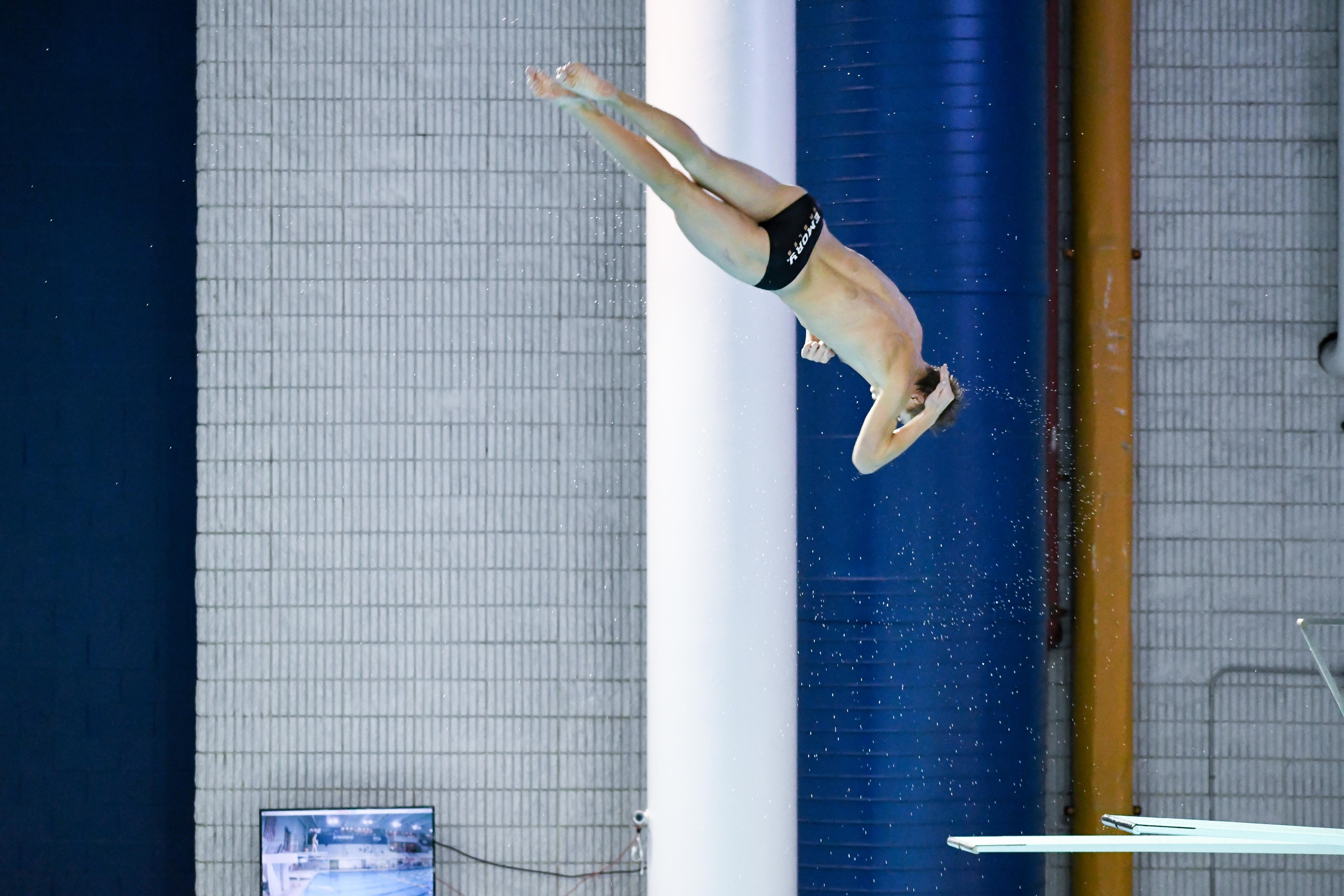 Bumgarner Sets School Record in 1-Meter Dive