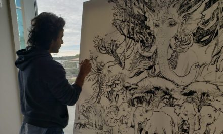 Resident Artist Abhishek Singh Connects Nature and Hinduism