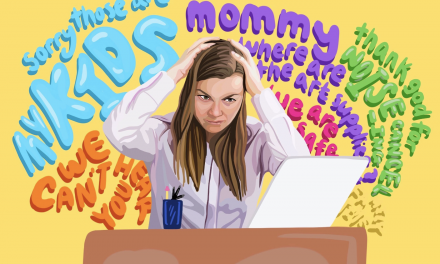 Illustration: Teaching From Home: The Trials and Tribulations of Faculty Parents
