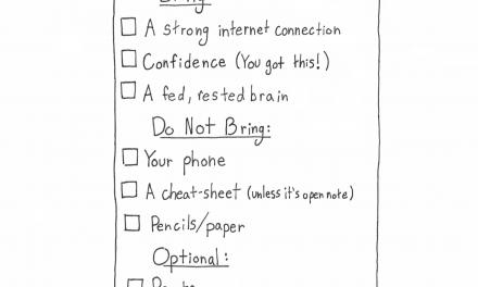Cartoon: Finals Checklist