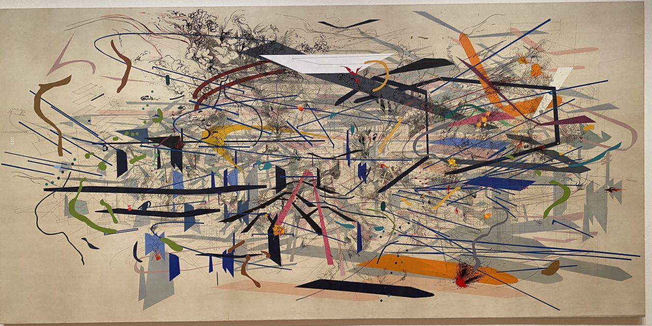 Mehretu Molds Geography, Color and Architecture at the High