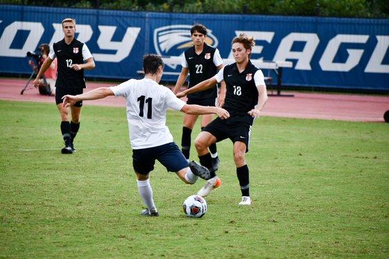 Women's soccer scores 13 goals in 1 game; Men defeat Lynchburg on last second goal by Berman